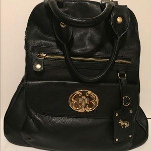 Emma Fox Black Hand Leather bag